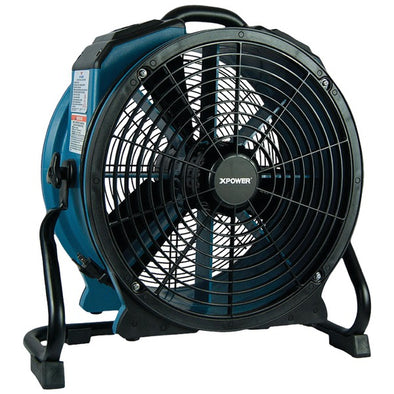 XPOWER X-47ATR X-47ATR Pro 3,600cfm Axial Air Mover-Dryer-Fan with Timer & Power Outlets