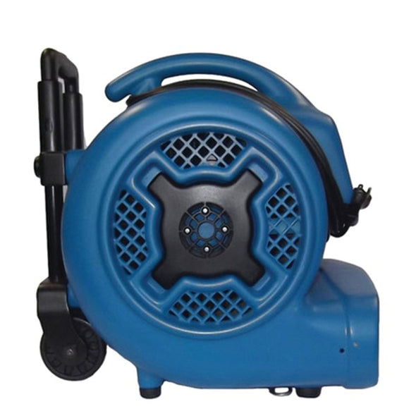 XPOWER X-830H X-830H 1hp 3,600cfm 3-Speed Commercial Air Mover-Carpet Dryer-Floor Blower Fan with Telescopic Handle & Wheels