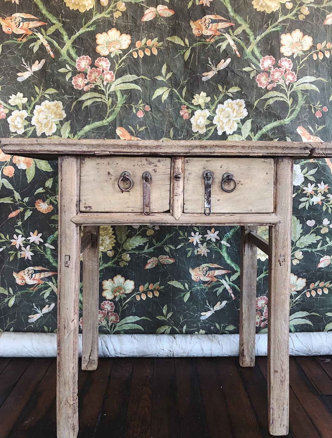 VINTAGE 2-DRAWER CONSOLE TABLE