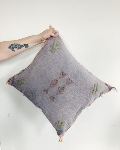CACTUS SILK PILLOW - PURPLE