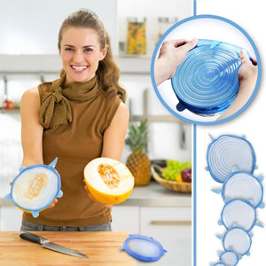 Couvercles Flexibles en Silicone (6 PCS / LOT)
