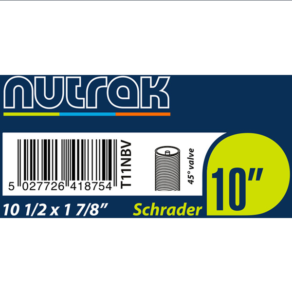Nutrak  10 1/2 x 1 7/8 inch inner tube with 45 degree valve