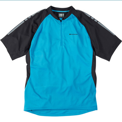 Madison  Stellar men's short sleeved jersey, atomic blue