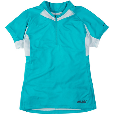 Madison Flux women's short sleeved jersey, aqua blue