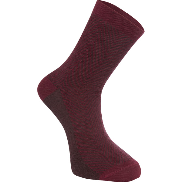 Madison Assynt Merino Long Sock-Burgundy