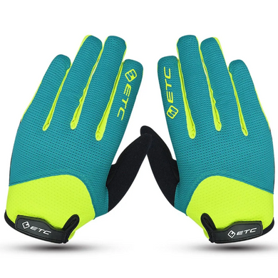 ETC Peak MTB Gloves Black Green Yellow