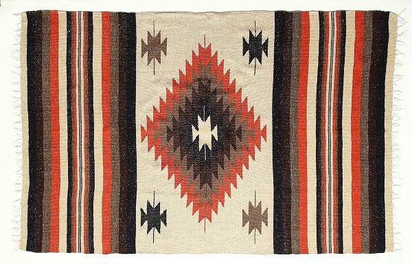 Saltillo Mexican Diamond Hand-loomed Blanket