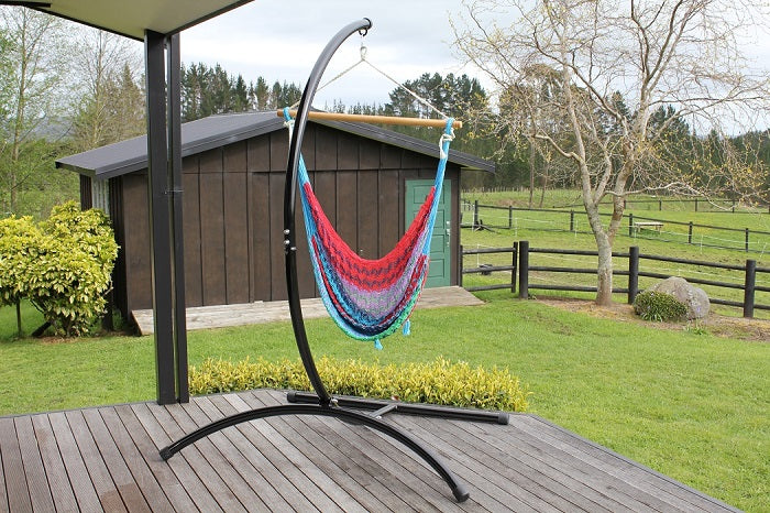 C Shaped Curved Metal Chair Hammock Stand