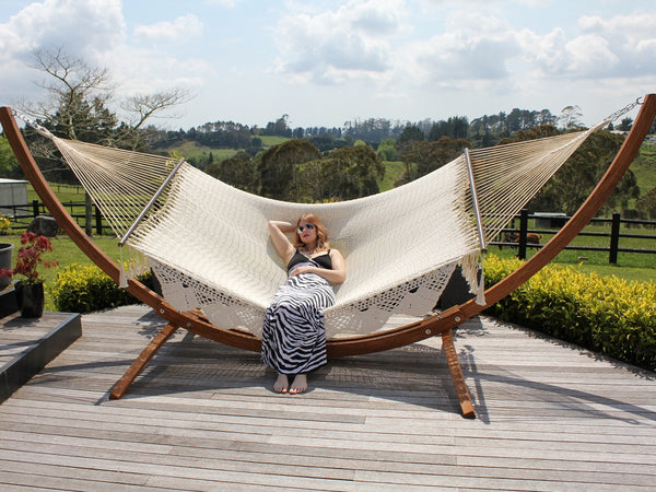 Curved Wooden Hammock Stand