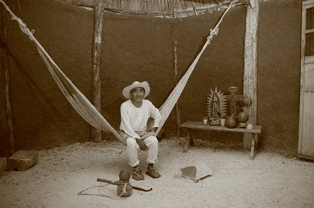 Mexican hammock in Mayan house