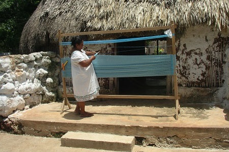 Traditional Mayan Mexican Hammock Weaving