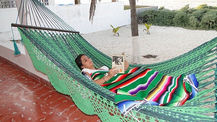 Spreader Bar Mexican hammock and blanket