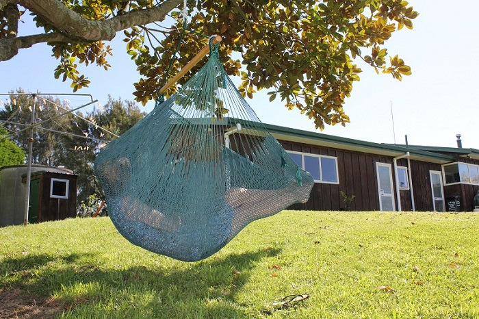 Green cotton chair hammock