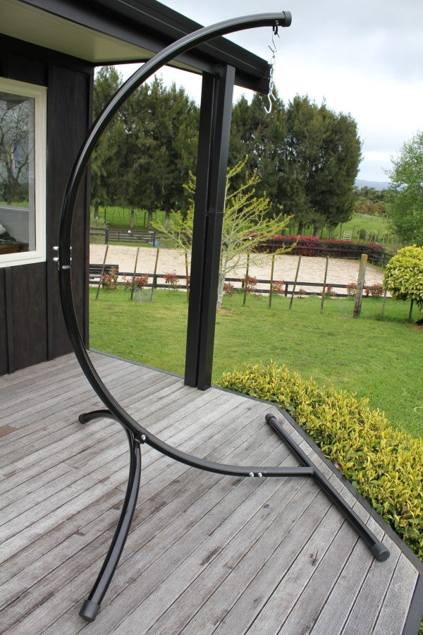 Curved Chair Hammock Stand Assembled