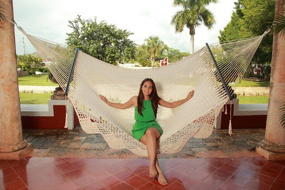 Mexican king size spreader bar hammock