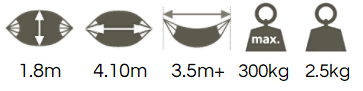 Polyester hammock dimensions