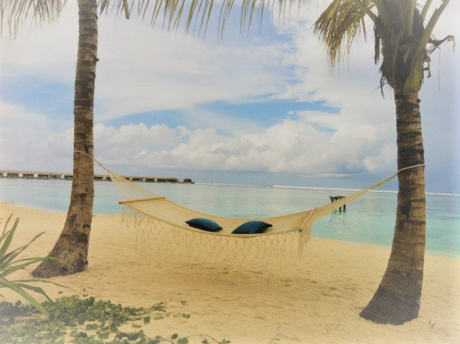 Spreader bar hammock on beach resort