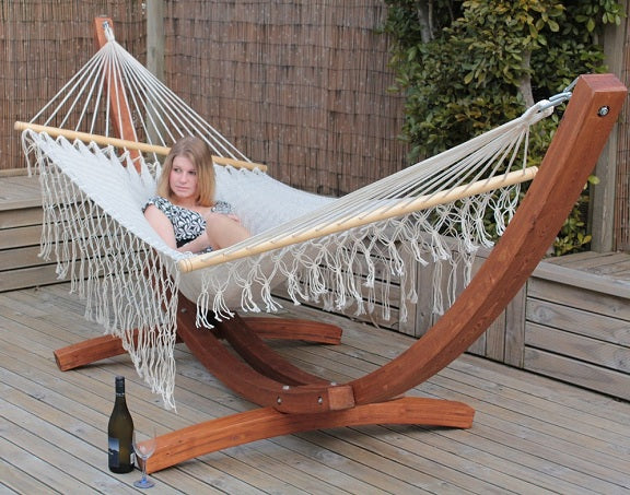 Hammock and stand on TV show