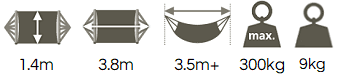 Polyester king hammock dimensions