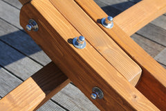 Wooden Hammock Stand Stainless Steel Fittings