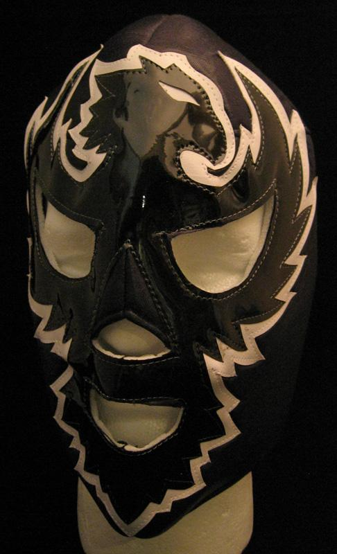 Black and White Luchador Mask