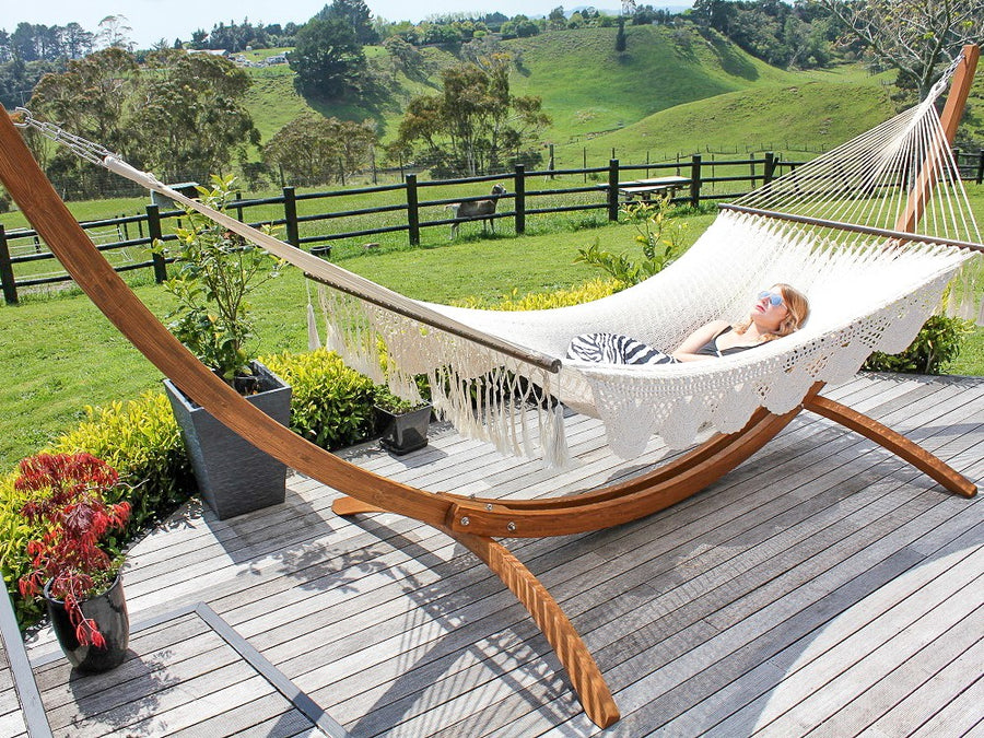 Wooden Hammock Stand Package