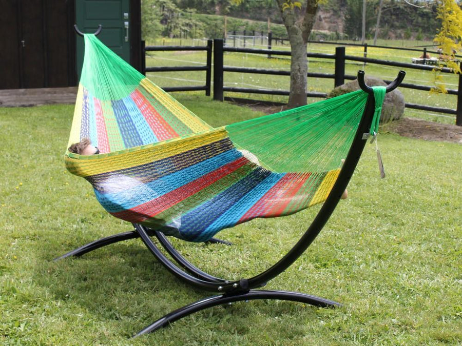 Mexican hammock and hammock stand