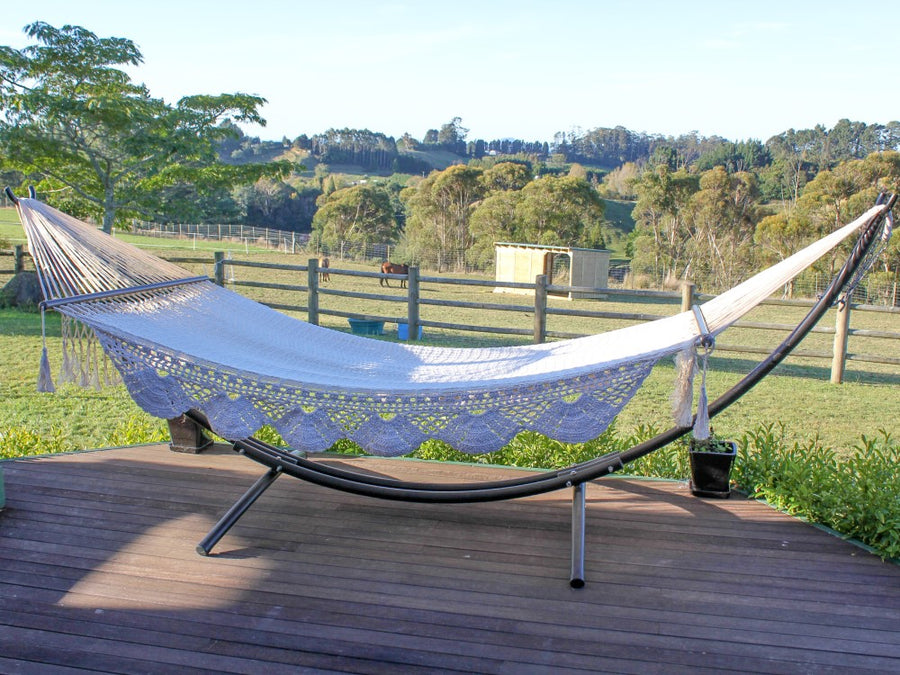 Arc Shaped Hammock Stand and King Size Hammock Bed