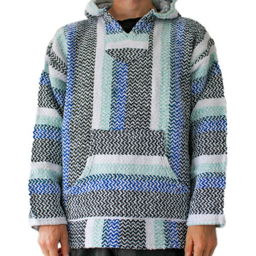 Mexican Baja Hoodie - Blue, Green, Black, White
