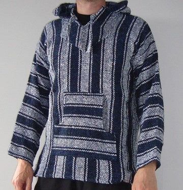 Blue and white Mexican hoodie