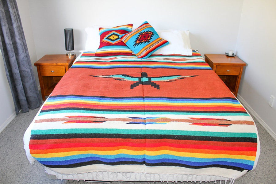 Bed Cover - Mexican Thunderbird Design