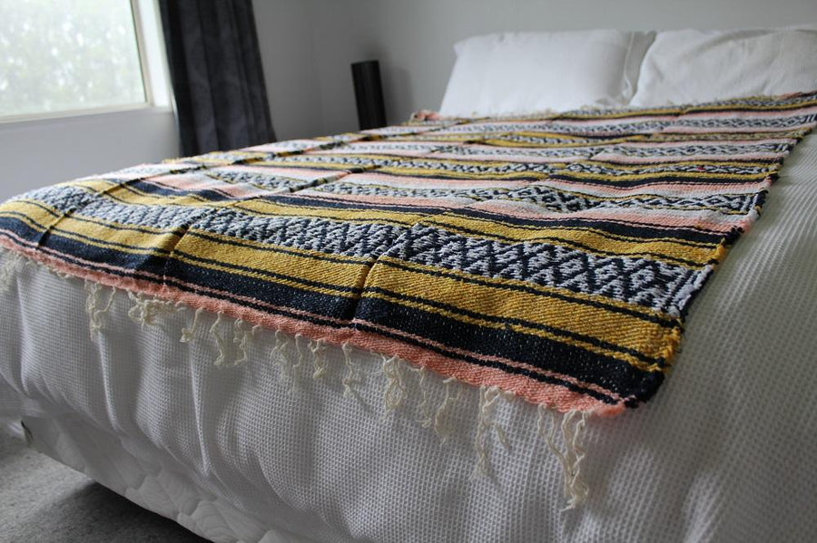 Loomed Mexican blanket