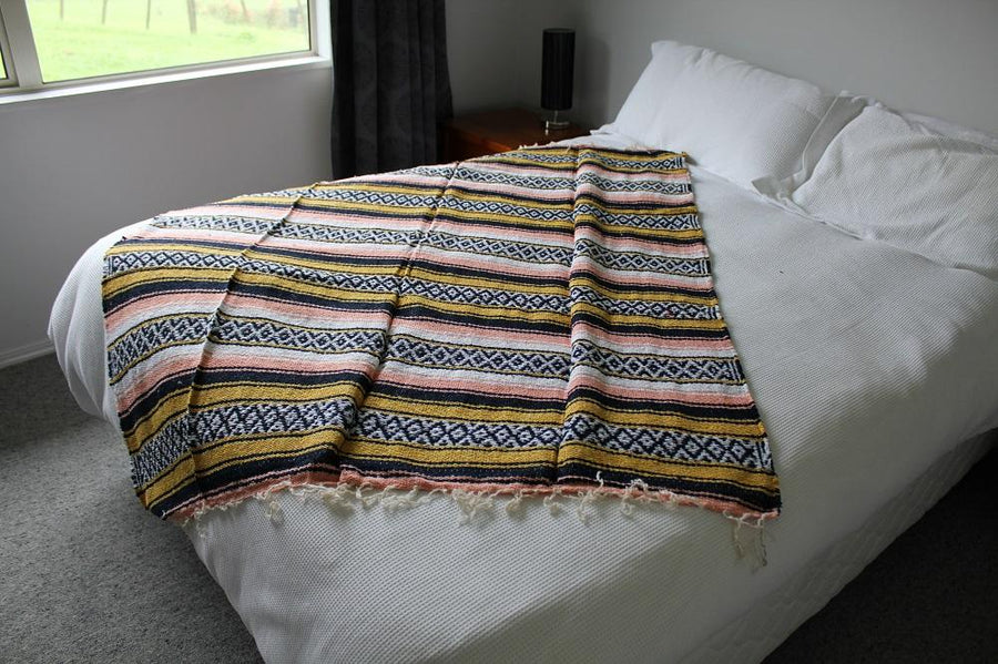 Mexican bed throw