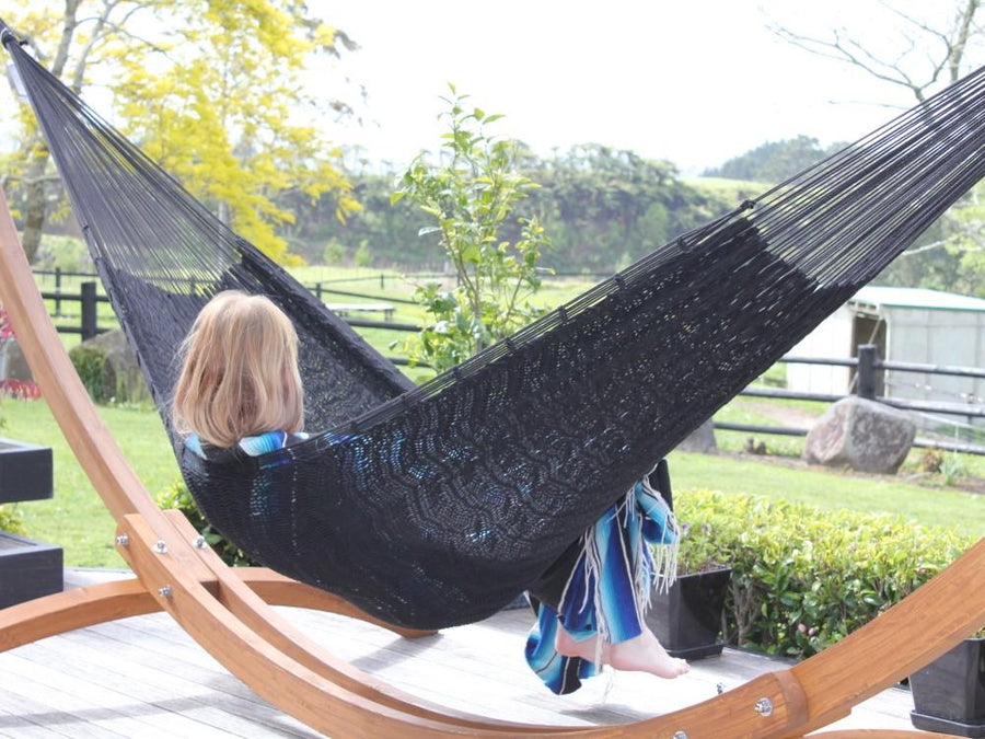 Black Hammock - Mexican Woven - Polyester
