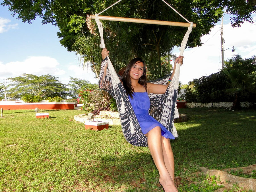 Mexican Fair Trade Hanging Hammock Chair