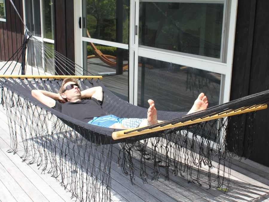 Cotton Black Bar Hammock