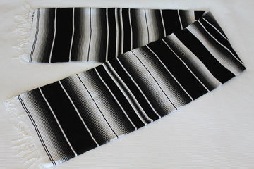 Black Striped Mexican Rug