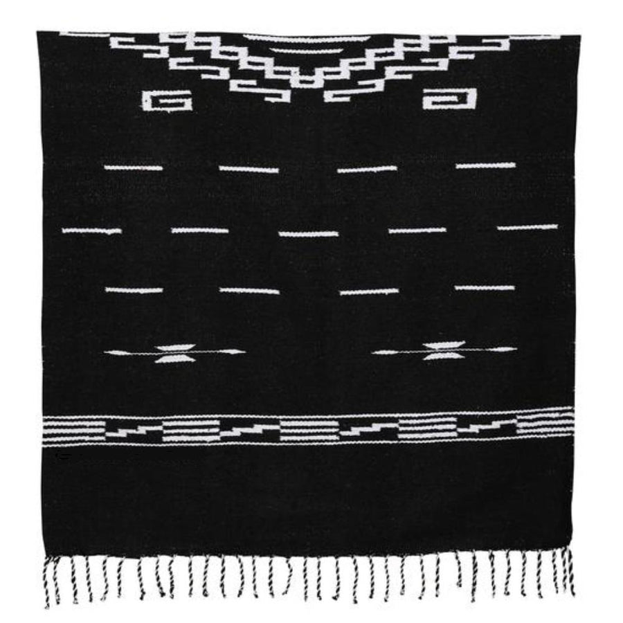 Spaghetti Western Poncho - Black and White