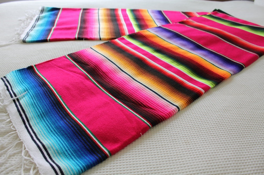 Mexican Hotrod Striped Blanket