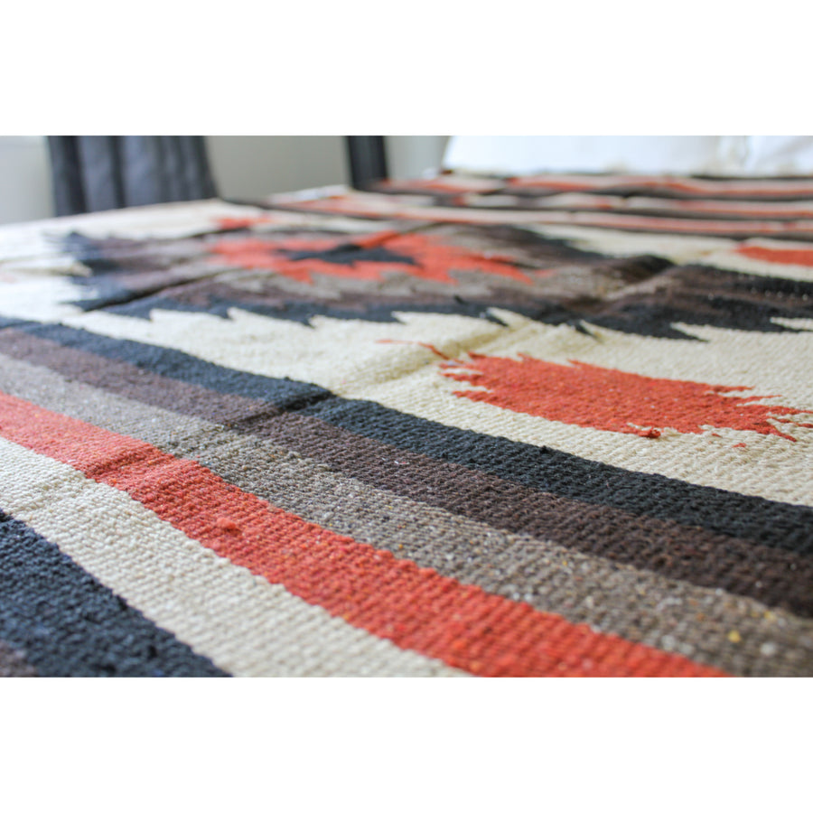 Earthy Coloured Mexican Diamond Blanket