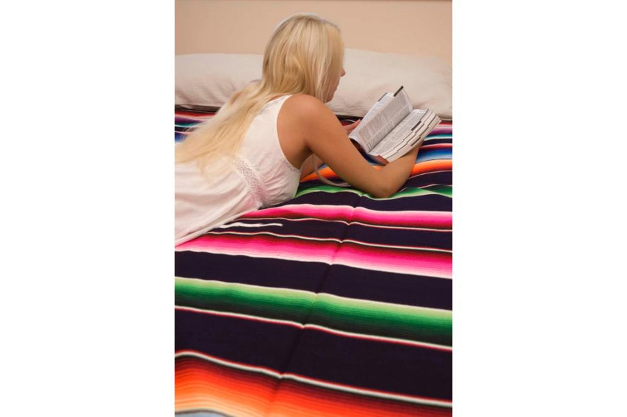 Mexican Blanket as Bedspread