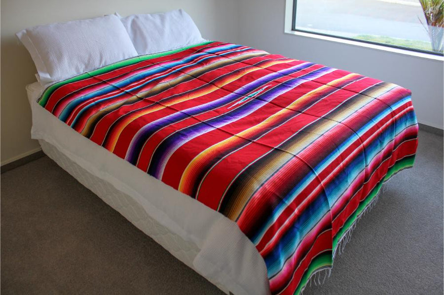 Mexican Bedspread - Red