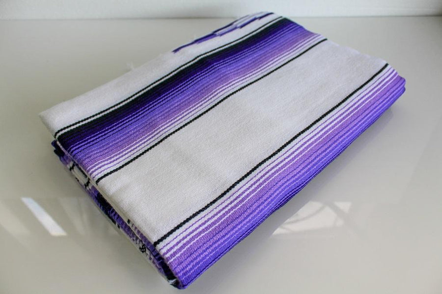 Purple and White Yoga Rug