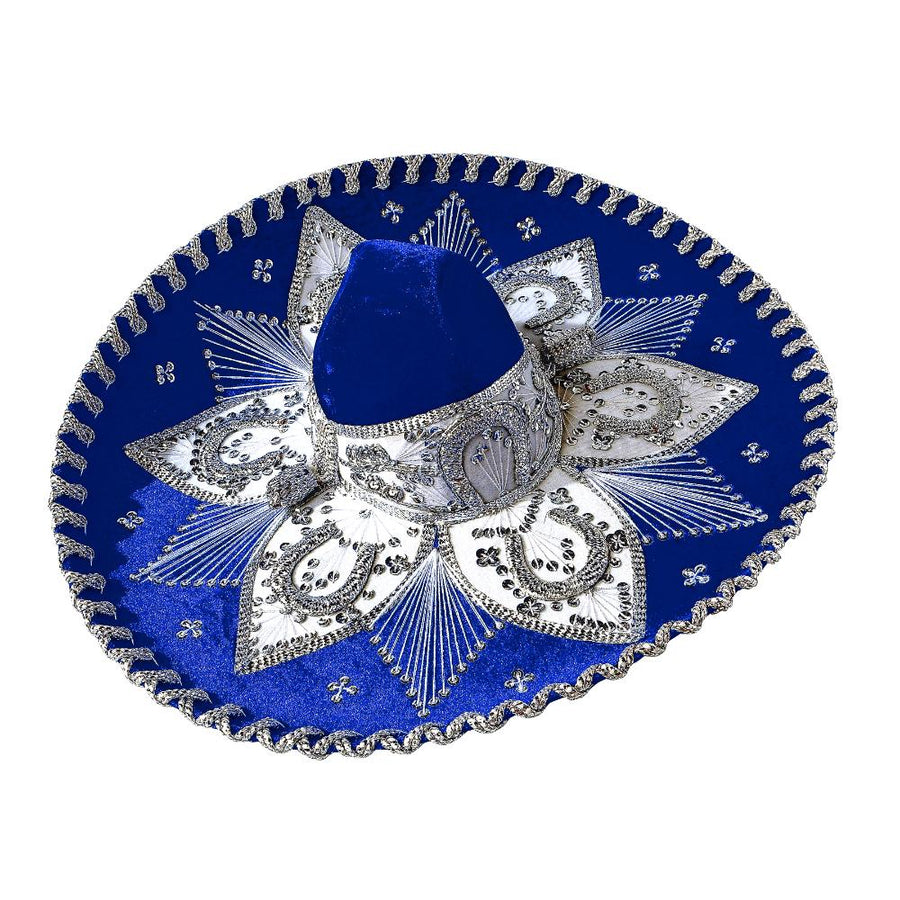 Blue and White Mexican Sombrero