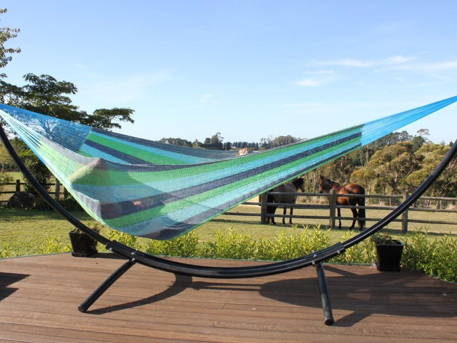 Blue and Green Cotton Hammock