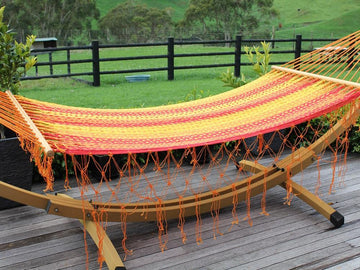 Bright coloured bar hammock - Mexican woven