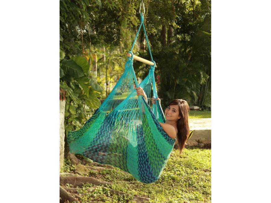 Chair Hammock - XL Size - Blue, Blue and Green