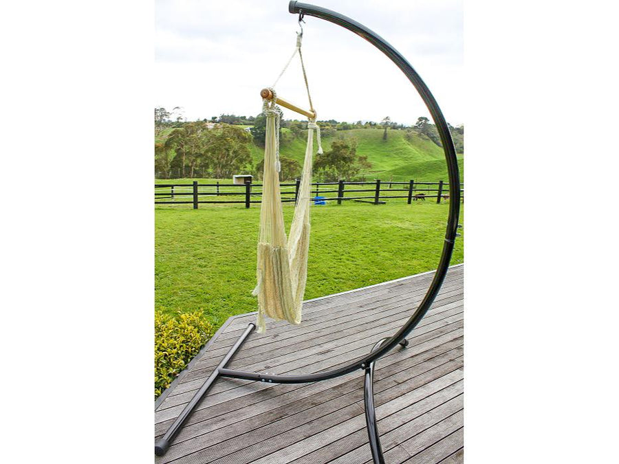 Curved chair hammock stand