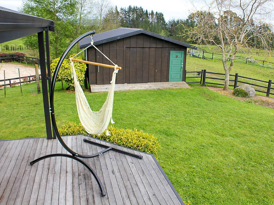 C shaped hammock stand