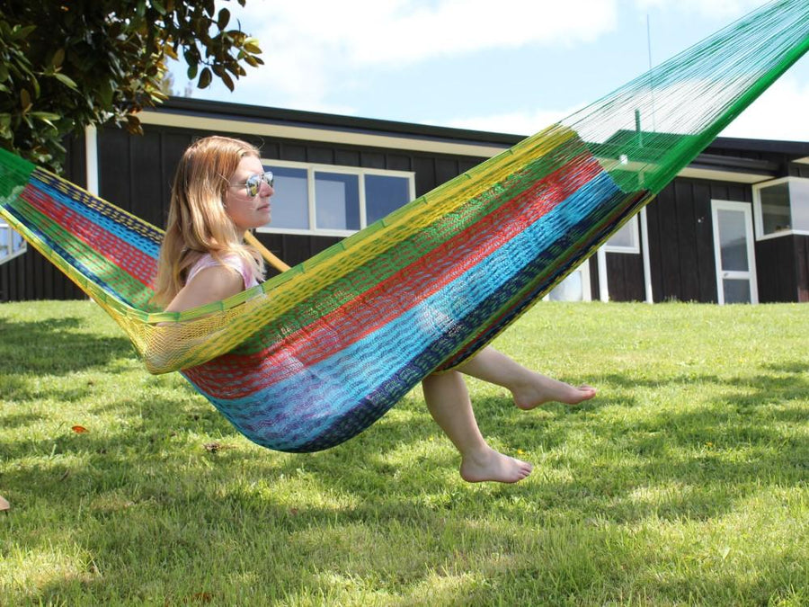 Mexican Coral Hammock - Colourful Cotton Hammock